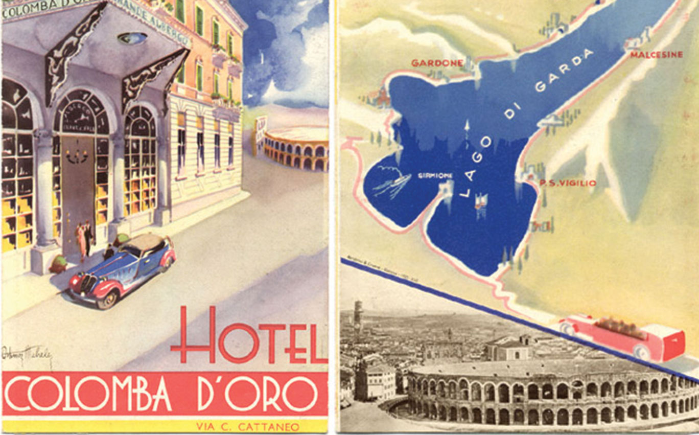 Vintage posters of Hotel Colomba d'Oro, Verona