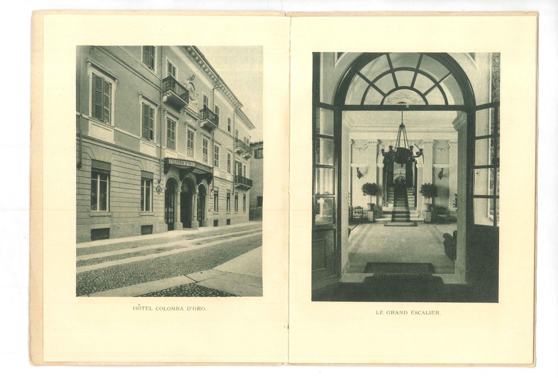 Foto d'epoca dell'Hotel Colomba d'Oro a Verona