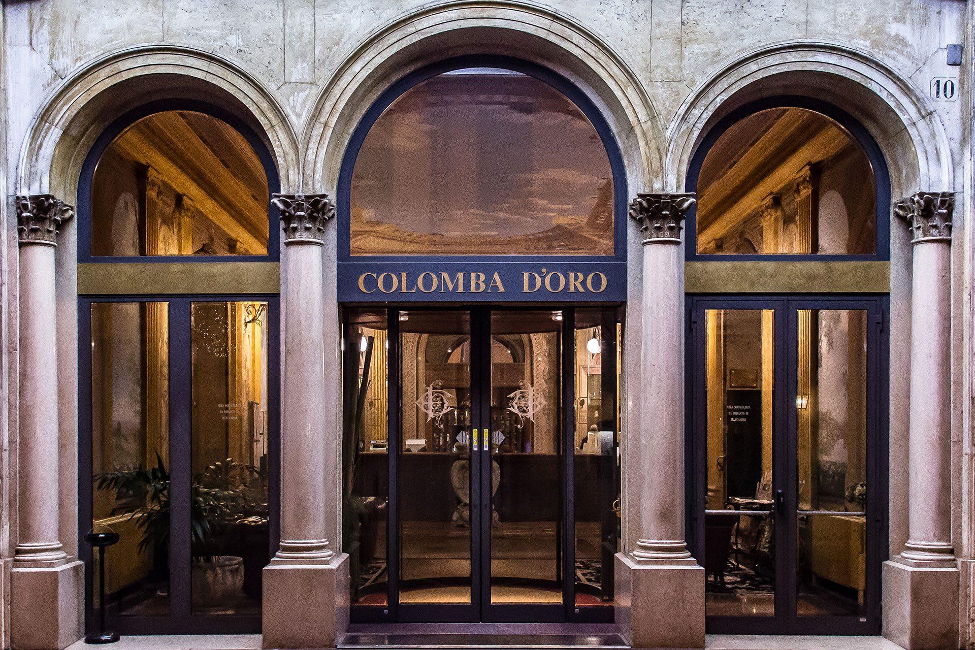 Entrata dell'Hotel Colomba d'Oro a Verona
