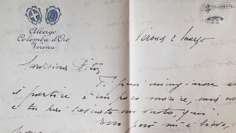 Lettera scritta durante la Seconda Guerra Mondiale